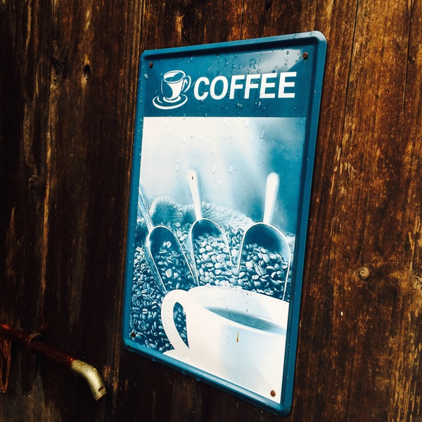 Coffee experiments sign